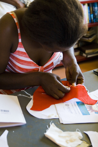Cretaive sewing workshop with artist Sally Scott